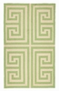 Trina Turk Green Greek Key Hook Rug