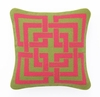 Trina Turk Green & Pink Shanghai Links Needle Point Pillow