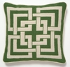 Trina Turk Green Shanghai Links Needle Point Pillow