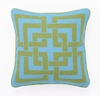 Trina Turk Green & Turquoise Shanghai Links Needle Point Pillow