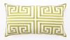 Trina Turk Lime Greek Key Embroidered Pillow