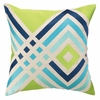 Trina Turk Los Olivos Embroidered Pillow in Blue and Green