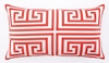 Trina Turk Melon Greek Key Embroidered Pillow