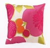 Trina Turk Multi Floral Embroidered Pink Pillow