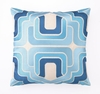 Trina Turk Ogee Embroidered Blue Pillow