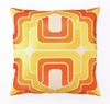 Trina Turk Ogee Embroidered Orange Pillow