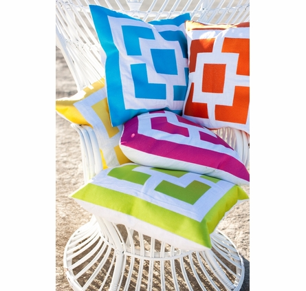 Trina Turk Palm Springs Block Pillow in Turquoise