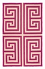 Trina Turk Pink Greek Key Hook Rug