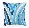 Trina Turk Vivacious Embroidered Blue Pillow