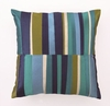 Trina Turk Watercolor Stripe Embroidered Blue Pillow