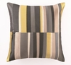 Trina Turk Watercolor Stripe Embroidered Grey Pillow