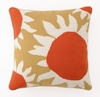 Trina Turk Yellow Sun Flower Needlepoint Pillow