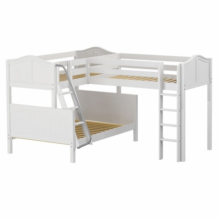 Trinity Corner Loft Twin Over Full Bunk Bed