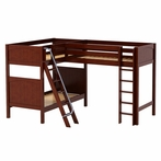 Trio Corner Loft Panel Bunk Bed