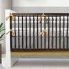 Triple Band Crib Bumper in Stone and Citron