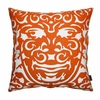 Triton Pillow in Persimmon and White
