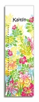 Tropical Flowers Personalized Growth Chart