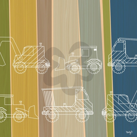 Truck Stripes Canvas Wall Art