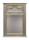 Trumeau Mirror with Appliqued Moulding and Gilding