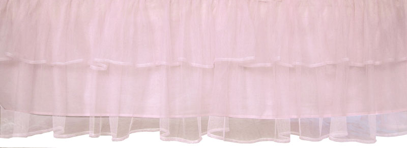 Tulle Triple Layer Bed Skirt In Pink By Sleeping Partners