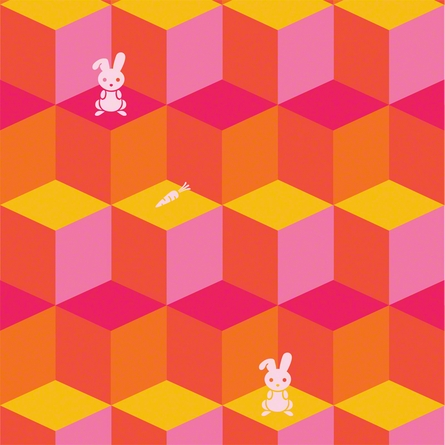 Tumbling Bunnies Removable Wallpaper