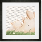 Turner & Kelly Cream and Blue Framed Art Print