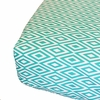 Turquoise and White Diamond Crib Sheet