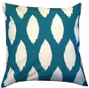 Turquoise Chaz Throw Pillow