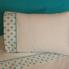 Turquoise Dot  Sheet Set