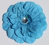 Turquoise Gardenia Blooming Fabric Flower