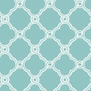 On Sale Turquoise Open Trellis Wallpaper