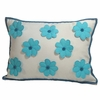 Turquoise Pillows with Flowers and Pearl Centers