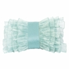 Turquoise Ruffle Pillow