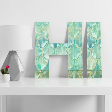 Turquoise Scallops Decorative Letters