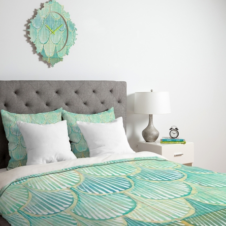 Turquoise Scallops Duvet Cover