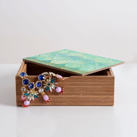 Turquoise Scallops Jewelry Box