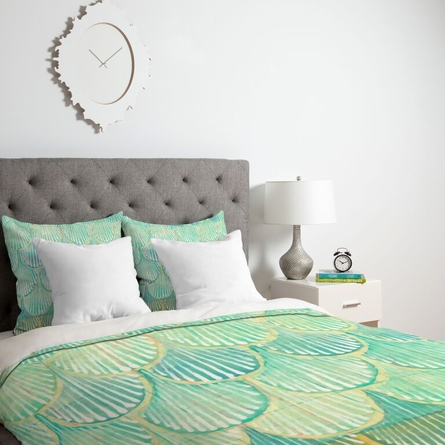 Turquoise Scallops Lightweight Duvet Cover