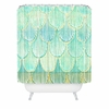 Turquoise Scallops Shower Curtain
