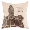 Turtle in Sand Throw Pillow