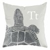Turtle in Warm Grey Throw Pillow