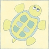 Turtle with Gingham I Canvas Reproduction