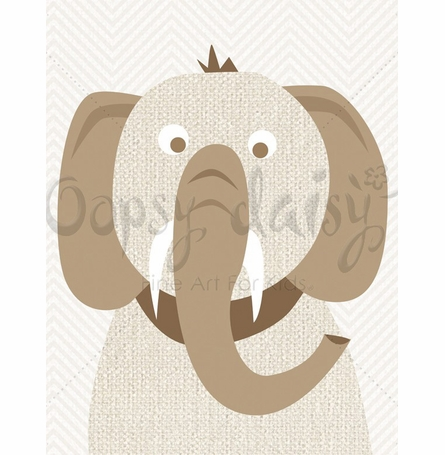Tusks and Trunks Canvas Wall Art