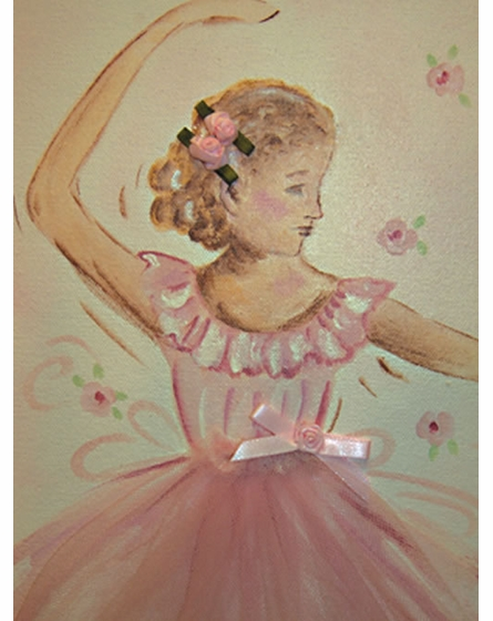 Tutu Ballerina Hand Painted Art