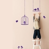 Tweeting Birds Kids Wall Sticker in Violet