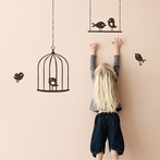 Tweeting Birds Wall Stickers - Brown
