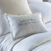 Twinkle Little Star Blue Embroidered Boudoir Pillow
