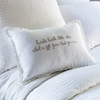 Twinkle Little Star Natural Embroidered Boudoir Pillow