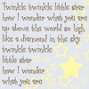 Twinkle Twinkle Little Star Canvas Reproduction
