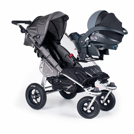 Twinner Twist Duo Double Stroller in Black