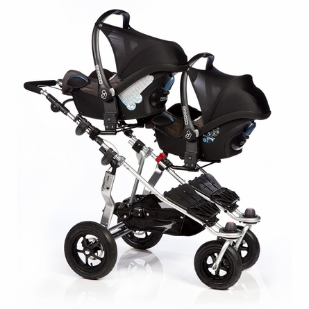 Twinner Twist Duo Double Stroller in Chocolate